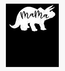 Mama Triceratops Dinosaur Funny Mother Photographic Print