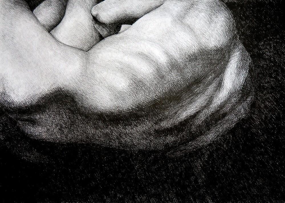 Battle for Light, 2014, 50-70cm, graphite crayon on paper by oanaunciuleanu