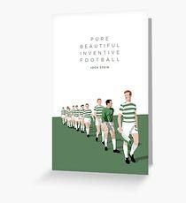Pure Beautiful Inventive Football - Lisbon Lions Greeting Card