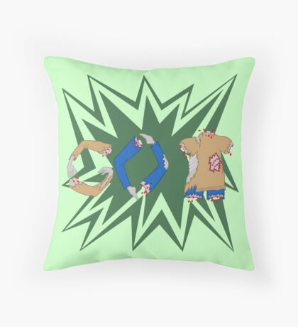 Zombie Humor Funny Go Back Walker Message Throw Pillow