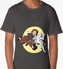 Belle & Sebastien / Tintin & Milou Parody Long T-Shirt