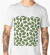Dieffenbachia tropical leaf pattern Men's Premium T-Shirt