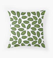 Dieffenbachia tropical leaf pattern Throw Pillow