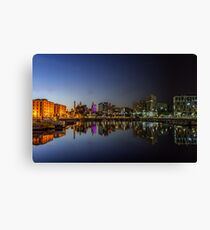 Salthouse Dock - Sunset to midnight Canvas Print