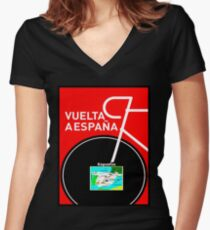VUELTA A ESPANA: Bicycle Racing Advertising Print Women's Fitted V-Neck T-Shirt