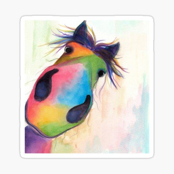 HORSE PRiNT 'MORELLO' BY SHiRLeY MacARTHuR Sticker