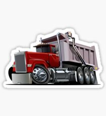 Cartoon Dump Truck Sticker