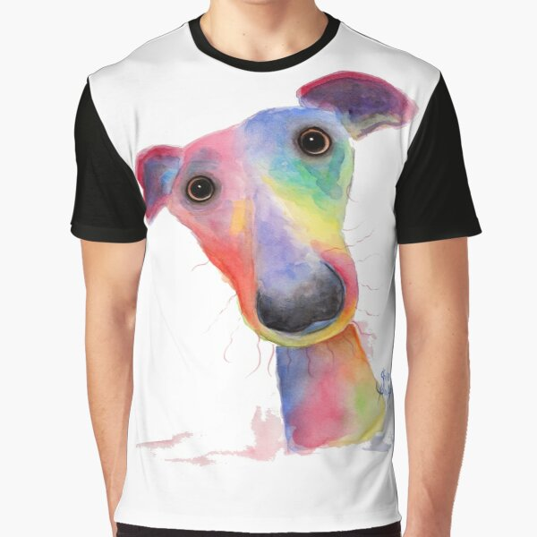 WHiPPeT GReYHouND DOG 'HANK' BY SHIRLEY MACARTHUR Graphic T-Shirt