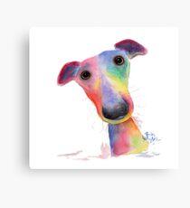 WHiPPeT GReYHouND DOG 'HANK' BY SHIRLEY MACARTHUR Canvas Print