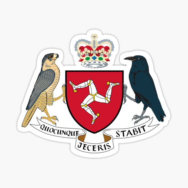Isle of Man Coat of Arms Sticker