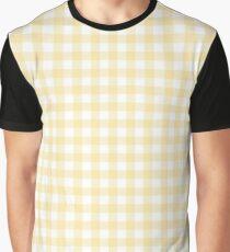 Yellow Gingham Graphic T-Shirt
