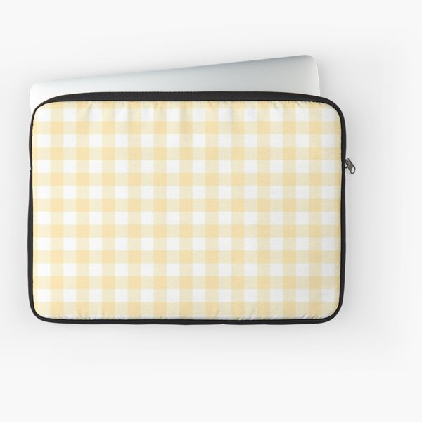 Yellow Gingham Laptop Sleeve