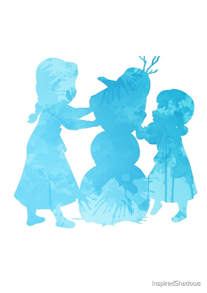 Princesses building a snowman Inspired Silhouette by InspiredShadows