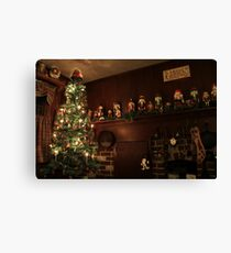 Old-Fashioned Colonial Christmas Holiday Canvas Print