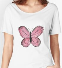 Whimsical Butterfly - Pink Women's Relaxed Fit T-Shirt