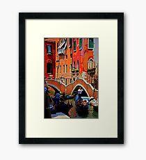 Busy Canal Framed Print