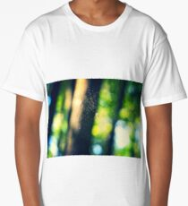 spiderweb in the forest Long T-Shirt