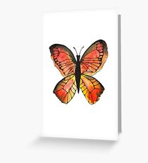 Whimsical Butterfly - Orange Greeting Card