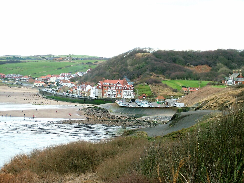Sandsend from the old railway line by dougie1