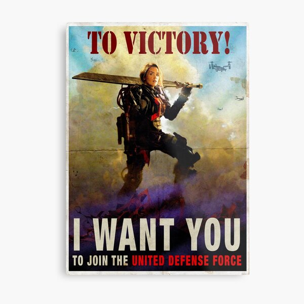 To Victory / Angel of Verdun : Inspired by Edge of Tomorrow Metal Print