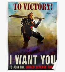 To Victory / Angel of Verdun : Inspired by Edge of Tomorrow Poster