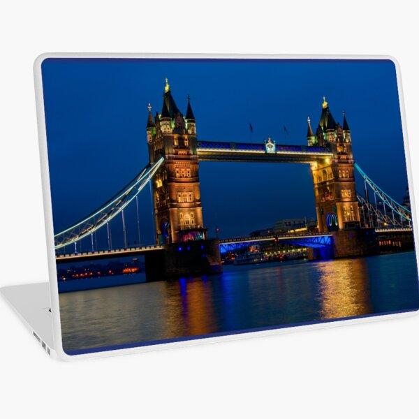 Tower Bridge during the blue hour, London Laptop Skin
