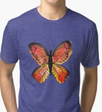Whimsical Butterfly - Orange Tri-blend T-Shirt