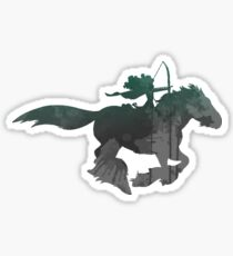 Princess on her horse Inspired Silhouette Sticker