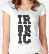 Ironic tshirt Alanis Morisette  Fitted Scoop T-Shirt