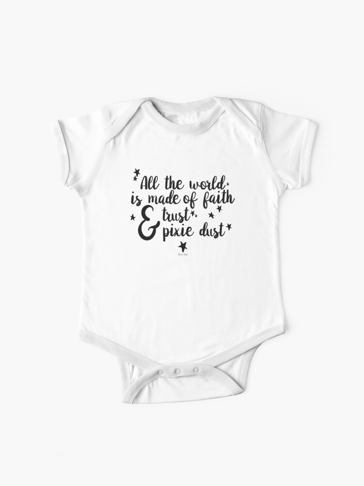 BEAUTIFUL NEVER GROW UP PETER PAN BABYGROW BABY GROW  ALL SIZES 0-3 month