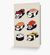 SUSHI PANDA Greeting Card