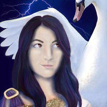 Leda and the swan by Kestrelle