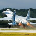 Ukranian SU27 take off by PhilEAF92