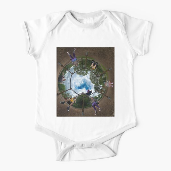 6 Seater Swing - Sky In Short Sleeve Baby One-Piece