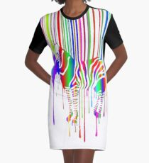MELTED ZEBRA  Graphic T-Shirt Dress