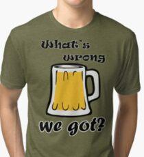 Camiseta de tejido mixto ¿Qué está mal con la cerveza que tenemos?