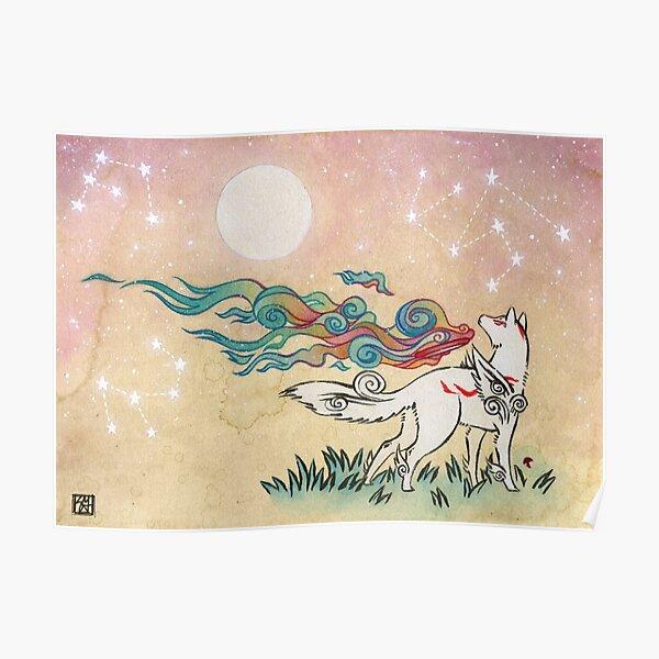 Amaterasu Wolf Poster