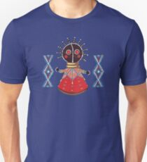 African baby doll on blue Unisex T-Shirt