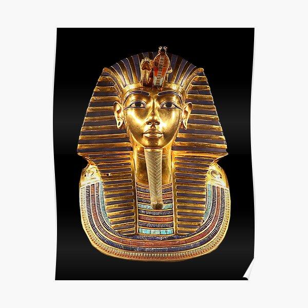 EGYPT. Egyptian. King Tut. Tutankhamun. Tutenkhamen. Tutenkhamon. Pharaoh, 18th dynasty, on Black. Poster