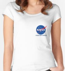 I Need My Space Women's Fitted Scoop T-Shirt