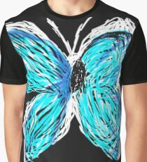 Neon Butterfly Graphic T-Shirt