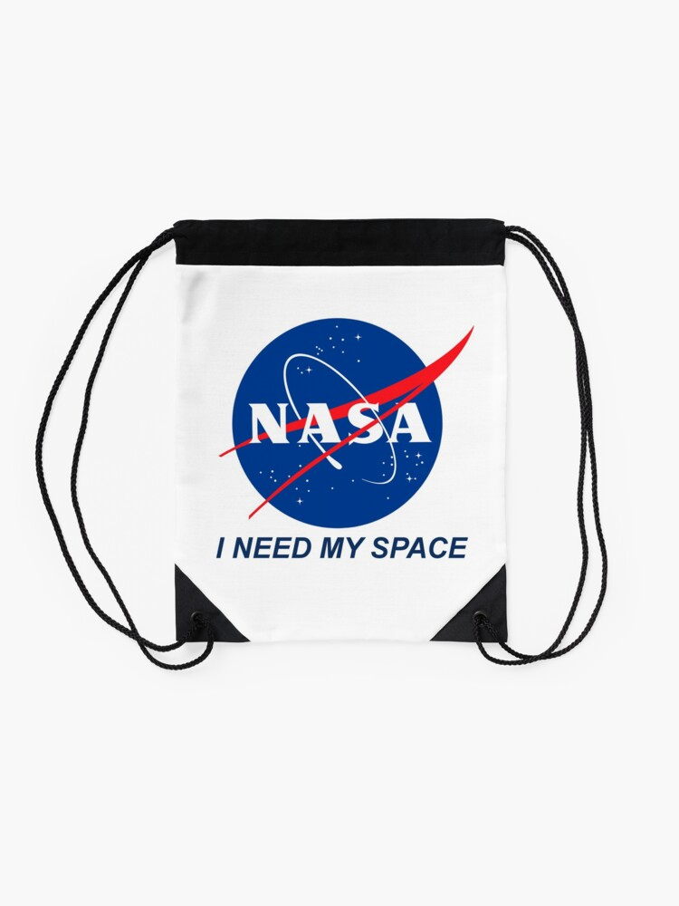 Alternate view of I Need My Space Drawstring Bag