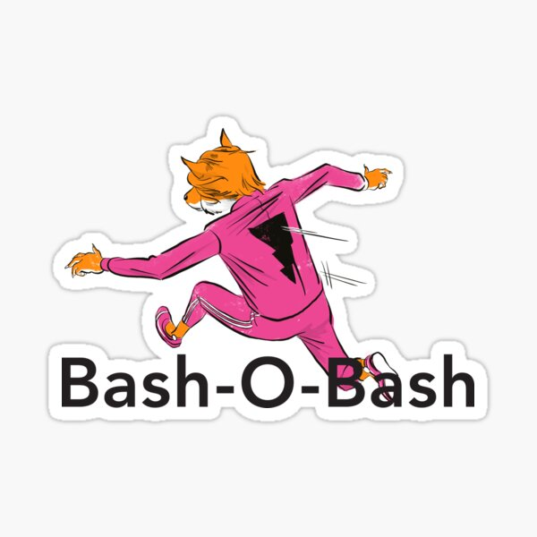 Bash-O-Bash! (with Fast Fox, Fox Racer) Sticker
