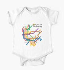NYC Subway diagram Short Sleeve Baby One-Piece