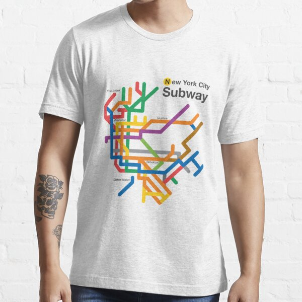NYC Subway diagram Essential T-Shirt