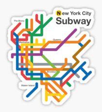 Small Nyc Subway Map.Nyc Subway Stickers Redbubble