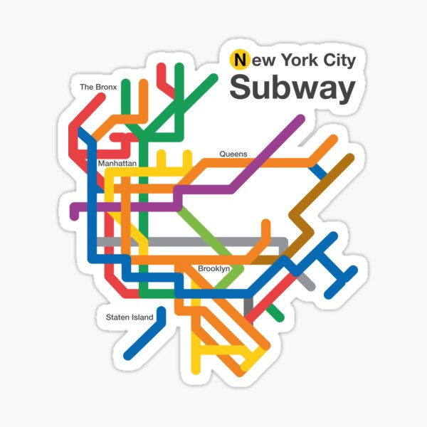 NYC Subway diagram Sticker