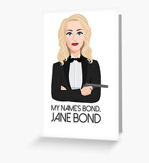 Gillian Anderson - Jane Bond Greeting Card