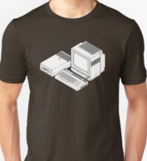 Commodore 64 with a floppy drive and CRT monitor Unisex T-Shirt