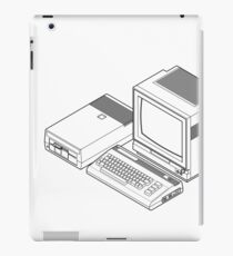 Commodore 64 with a floppy drive and CRT monitor iPad Case/Skin